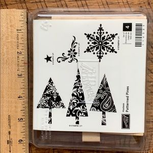 Stampin Up! Patterned Pines Stamps. New